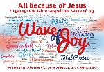 Wortwolke zum zwanzigjährigen Jubiläum des Gospelchores Wave of Joy