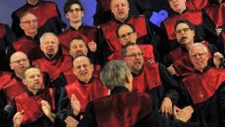 Tenöre und Bässe beim Konzert in St. Joseph am 06.10.2017 (Quelle: Robert Widera)