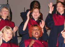 Foto vom Sopran von Wave of Joy bei den Oberkasseler Kulturtagen