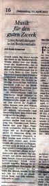 Artikel im General-Anzeiger vom 19. April 2012