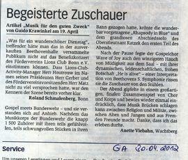 Artikel im General-Anzeiger vom 30. April 2012