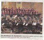 Artikel in der Bonner Rundschau vom 3. Mai 2012: Musikkorps der Bundeswehr am 17. April 2012 in der Beethovenhalle Bonn